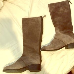 Nine West 10M gray/taupe boots